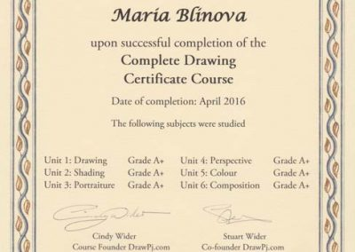 Certificate Of Completion, 04.2016