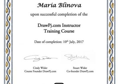 Instructor Graduation Certificate, 07.2017